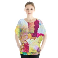 Art Detail Abstract Painting Wax Blouse