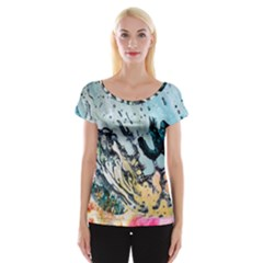 Abstract Structure Background Wax Cap Sleeve Tops