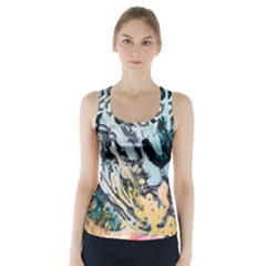 Abstract Structure Background Wax Racer Back Sports Top