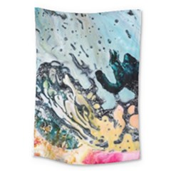 Abstract Structure Background Wax Large Tapestry