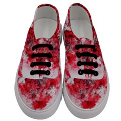 Flower Roses Heart Art Abstract Men s Classic Low Top Sneakers