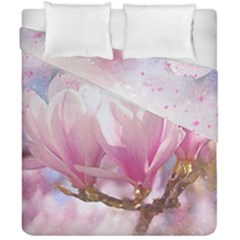 Flowers Magnolia Art Abstract Duvet Cover Double Side (california King Size)