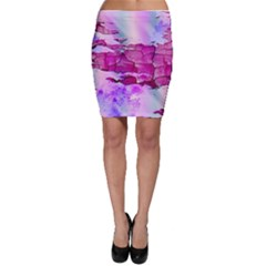 Background Crack Art Abstract Bodycon Skirt