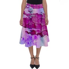 Background Crack Art Abstract Perfect Length Midi Skirt