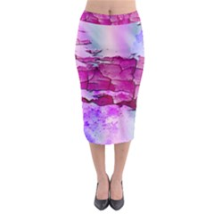 Background Crack Art Abstract Midi Pencil Skirt