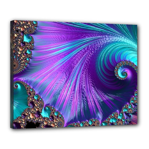 Abstract Fractal Fractal Structures Canvas 20  X 16