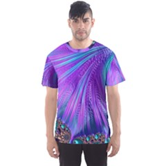 Abstract Fractal Fractal Structures Men s Sports Mesh Tee