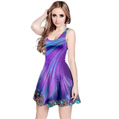 Abstract Fractal Fractal Structures Reversible Sleeveless Dress