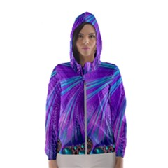 Abstract Fractal Fractal Structures Hooded Wind Breaker (women)