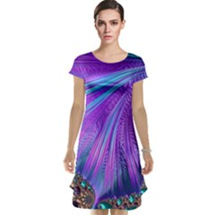 Abstract Fractal Fractal Structures Cap Sleeve Nightdress