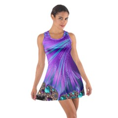 Abstract Fractal Fractal Structures Cotton Racerback Dress