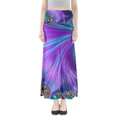 Abstract Fractal Fractal Structures Full Length Maxi Skirt