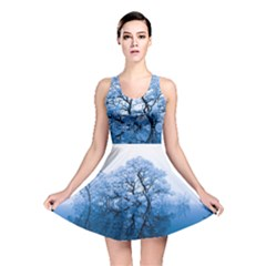 Nature Inspiration Trees Blue Reversible Skater Dress