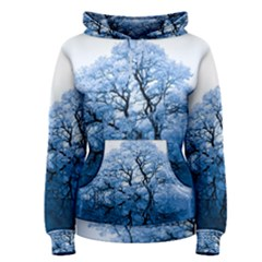 Nature Inspiration Trees Blue Women s Pullover Hoodie