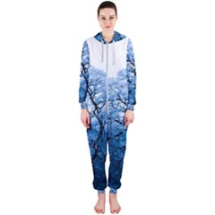 Nature Inspiration Trees Blue Hooded Jumpsuit (ladies)