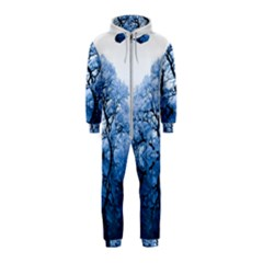Nature Inspiration Trees Blue Hooded Jumpsuit (kids)