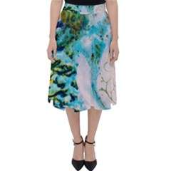 Abstract Art Modern Detail Macro Folding Skater Skirt