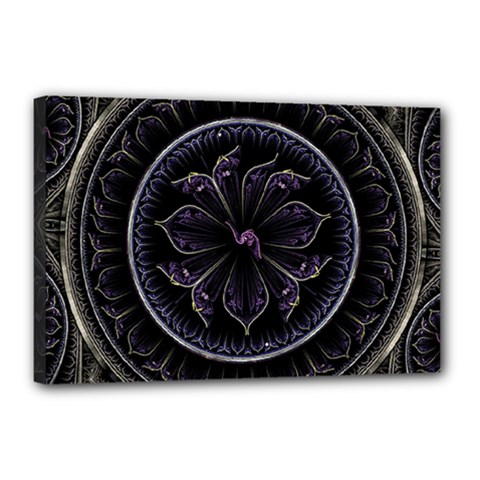 Fractal Abstract Purple Majesty Canvas 18  X 12