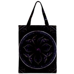 Fractal Abstract Purple Majesty Zipper Classic Tote Bag