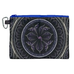 Fractal Abstract Purple Majesty Canvas Cosmetic Bag (xl)