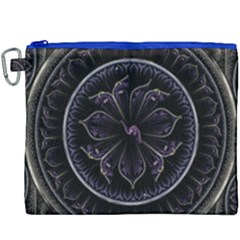 Fractal Abstract Purple Majesty Canvas Cosmetic Bag (xxxl)