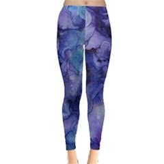 Ink Background Swirl Blue Purple Leggings