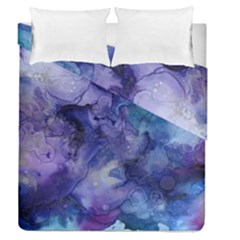 Ink Background Swirl Blue Purple Duvet Cover Double Side (queen Size)