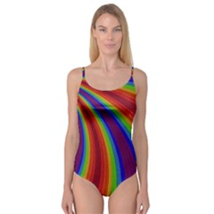 Abstract Pattern Lines Wave Camisole Leotard