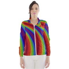Abstract Pattern Lines Wave Wind Breaker (women)