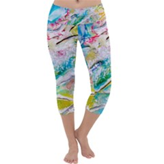 Art Abstract Abstract Art Capri Yoga Leggings