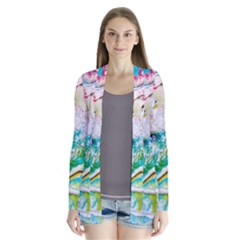 Art Abstract Abstract Art Drape Collar Cardigan