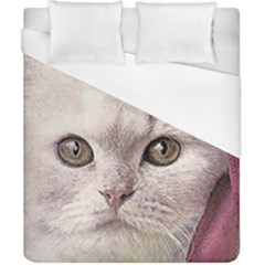 Cat Pet Cute Art Abstract Vintage Duvet Cover (california King Size)