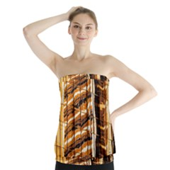 Abstract Architecture Background Strapless Top