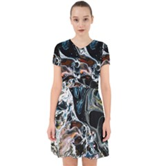 Abstract Flow River Black Adorable In Chiffon Dress