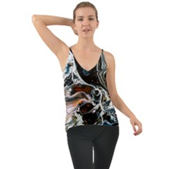 Abstract Flow River Black Cami