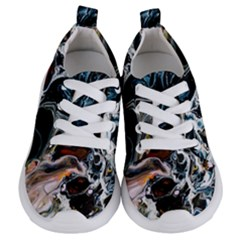 Abstract Flow River Black Kids  Lightweight Sports Shoes