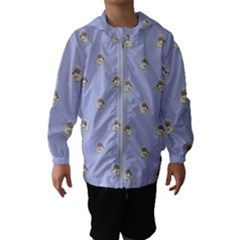 Monster Rats Hand Draw Illustration Pattern Hooded Wind Breaker (kids)