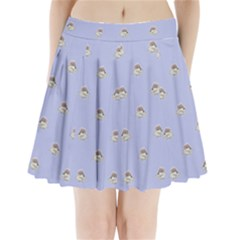 Monster Rats Hand Draw Illustration Pattern Pleated Mini Skirt