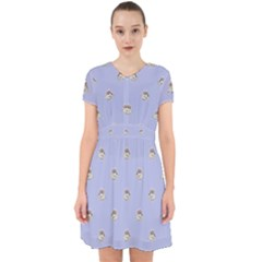 Monster Rats Hand Draw Illustration Pattern Adorable In Chiffon Dress