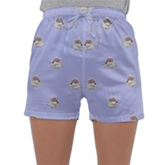 Monster Rats Hand Draw Illustration Pattern Sleepwear Shorts