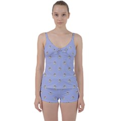 Monster Rats Hand Draw Illustration Pattern Tie Front Two Piece Tankini