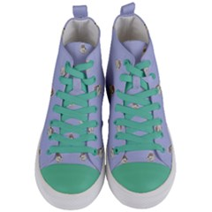Monster Rats Hand Draw Illustration Pattern Women s Mid Top Canvas Sneakers