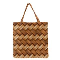 Basket Fibers Basket Texture Braid Grocery Tote Bag
