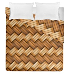Basket Fibers Basket Texture Braid Duvet Cover Double Side (queen Size)