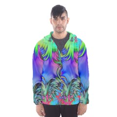 Star Abstract Colorful Fireworks Hooded Wind Breaker (men)