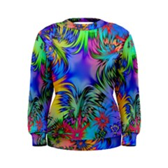 Star Abstract Colorful Fireworks Women s Sweatshirt