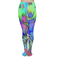 Star Abstract Colorful Fireworks Women s Tights