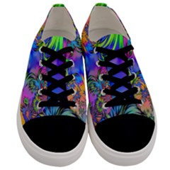 Star Abstract Colorful Fireworks Men s Low Top Canvas Sneakers