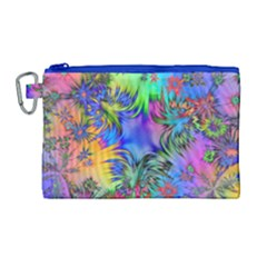 Star Abstract Colorful Fireworks Canvas Cosmetic Bag (large)