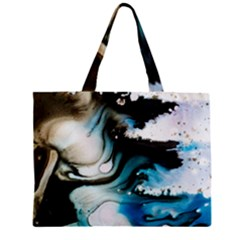 Abstract Painting Background Modern Zipper Mini Tote Bag